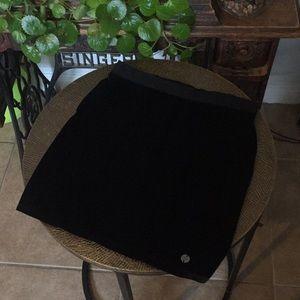 Vans ultra black fitted velvet mini skirt